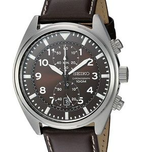 Seiko Men's SNN241 Stainless Steel Watch with Brow